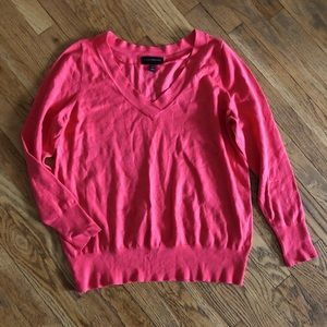 Lane Bryant Pink V-Neck Fitted Sweater